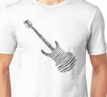 Guitar Sketch Black  Unisex T-Shirt