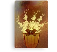 Flowers- Art & Products Design / classic Brown Canvas Print