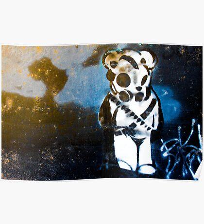 Enhanced Graffiti Bear Poster