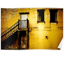 Yellow Abandoned Building Poster