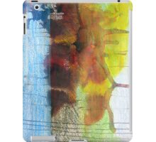 Abstract Ink Landscape with Water, Mountains, Fall Trees iPad Case/Skin