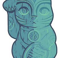 Tiki Lucky Cat by spicydonut