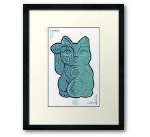 Tiki Lucky Cat Framed Print