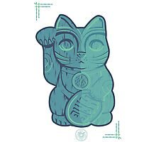 Tiki Lucky Cat Photographic Print