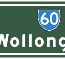 Wollongong, Road Sign, Australia  Sticker