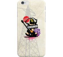 Censored Sexy Lady with mixed Street Art iPhone Case/Skin