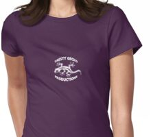 Taesty Gecko Production little white logo front chest Womens Fitted T-Shirt