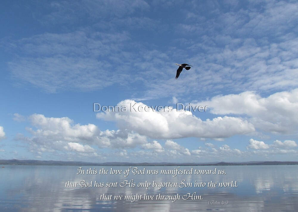 """""""In this the love of God was manifested..."""" by Donna Keevers Driver"""