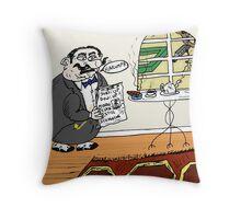 Mixed market signals financial cartoon Throw Pillow