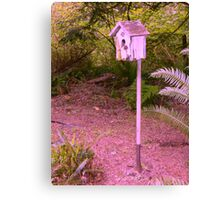 Shovel Birdhouse Canvas Print