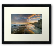 Reflections of Sunset. Framed Print