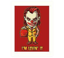Mc'D Joker - Batman - Mashup Art Print