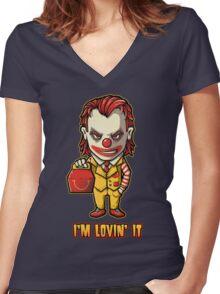 Mc'D Joker - Batman - Mashup Women's Fitted V-Neck T-Shirt