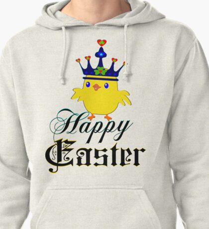 ㋡♥♫Happy Easter Blue Eyed Irish King Chicken Clothing & Stickers♪♥㋡ Pullover Hoodie
