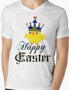 ㋡♥♫Happy Easter Blue Eyed Irish King Chicken Clothing & Stickers♪♥㋡ Mens V-Neck T-Shirt