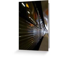 Train 12 03 13 - Three Greeting Card