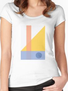 Geo Comp l Women's Fitted Scoop T-Shirt