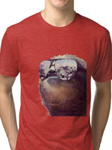 Cashmoney Sloth w/ sunglasses Tri-blend T-Shirt