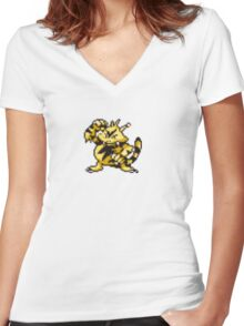 Electabuzz evolution  Women's Fitted V-Neck T-Shirt