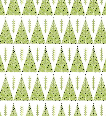 Winter Trees - Green by Andrea Lauren  Sticker