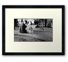 A day with daddy Framed Print
