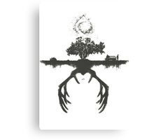 A Tribute to True Detective Canvas Print