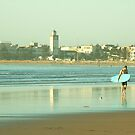 Surfer in Essaouira by Louise Fahy