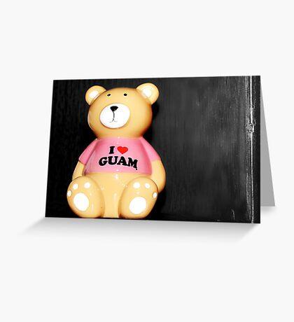 I love Guam Greeting Card