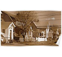 Typical homes in Valley Stream-Sepia Poster