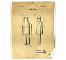 Mechanical Man Patent Poster