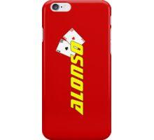 Fernando Alonso (Spanish colours) iPhone Case/Skin