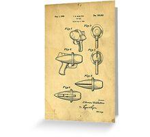 Toy Ray Gun Patent Greeting Card