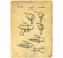 Toy Ray Gun Patent Photographic Print