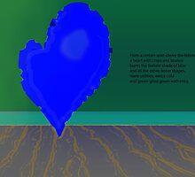 the blue heart burns by lynnhoffman