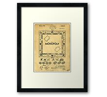 Original Patent for Monopoly Board Game 1936 Framed Print