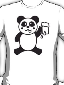Funny Beer Drinking Panda T-Shirt