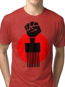 Black Fist Power T-Shirt Tri-blend T-Shirt
