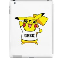 Geek Out With Pikachu. iPad Case/Skin