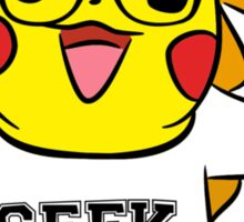 Geek Out With Pikachu. Sticker