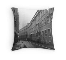 Foggy Leicester Street Throw Pillow
