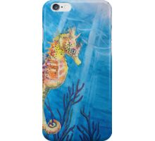 """Sea Freckles"" Tropical Sea Horse watercolor painting by Christie Marie Elder-Ussher iPhone Case/Skin"