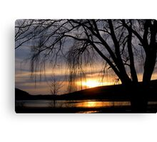 TIME standing still under the willow Canvas Print
