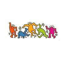 Keith Haring Dancing Figures art by 8Train