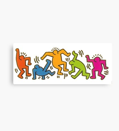 Keith Haring Dancing Figures art Canvas Print