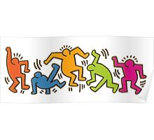 Keith Haring Dancing Figures art Poster