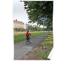 Riding Bike Poster