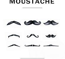 GENTLEMEN'S MOUSTACHE by mkART