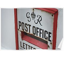 Vintage Post Office letterbox Poster
