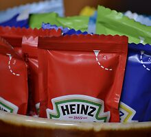 Selection of classic Heinz pub condiments by wittieb