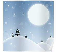 Winter Snow Scene Poster